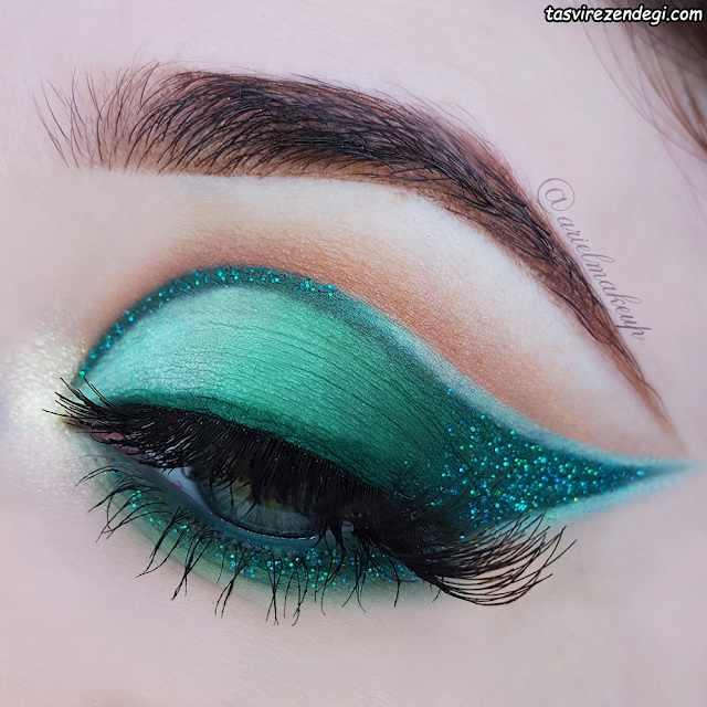 آرایش چشم سایه سبز