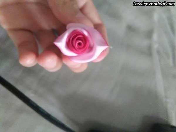 ساخت گل رز صد پر