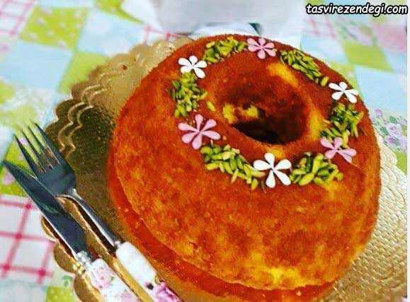کیک ماست و زعفران