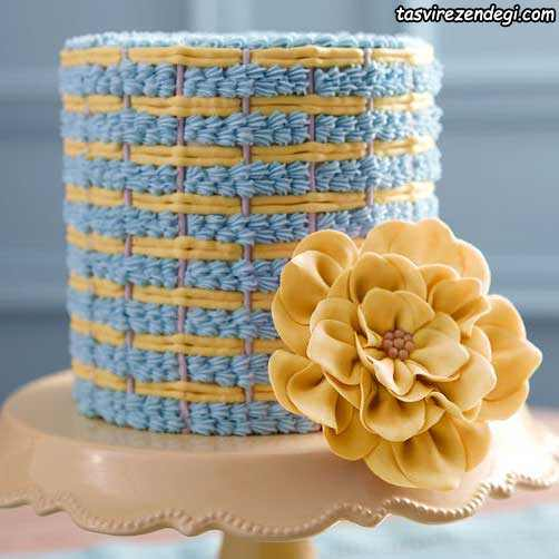 تزیین کیک عروسی با ماسوره