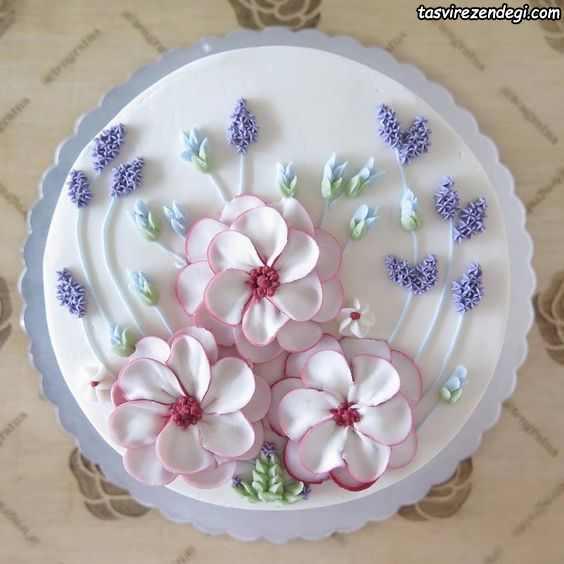 مدل زیبای تریین کیک با ماسوره