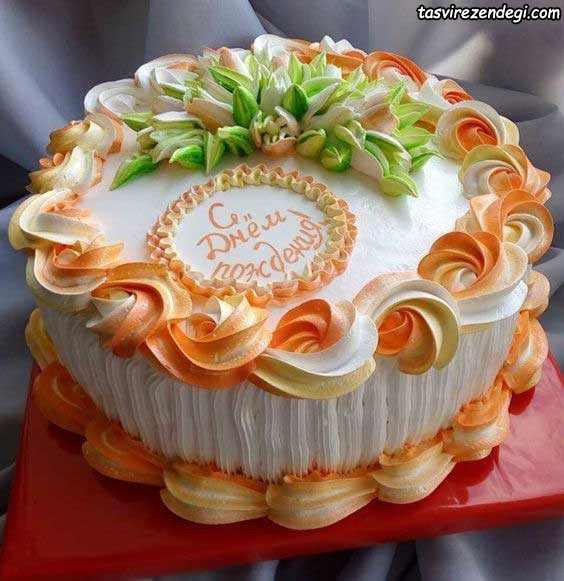 تریین کیک گرد با ماسوره