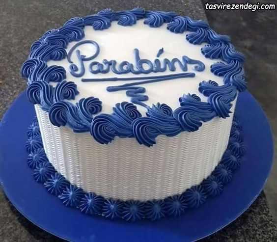 تریین کیک تولد پسرانه با ماسوره