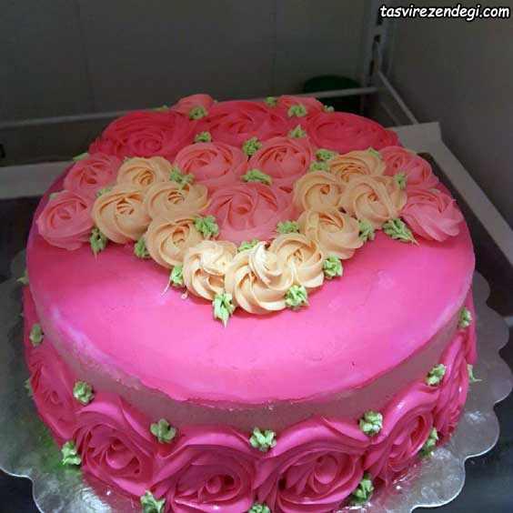 تریین کیک تولد دخترانه با ماسوره