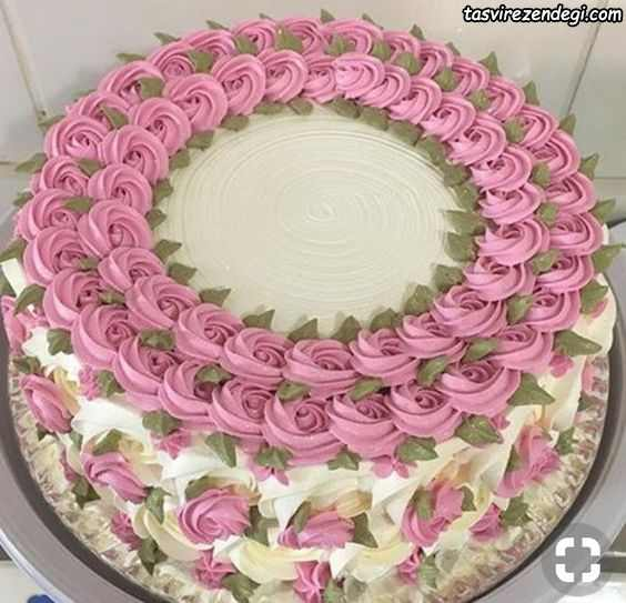 تریین کیک با ماسوره