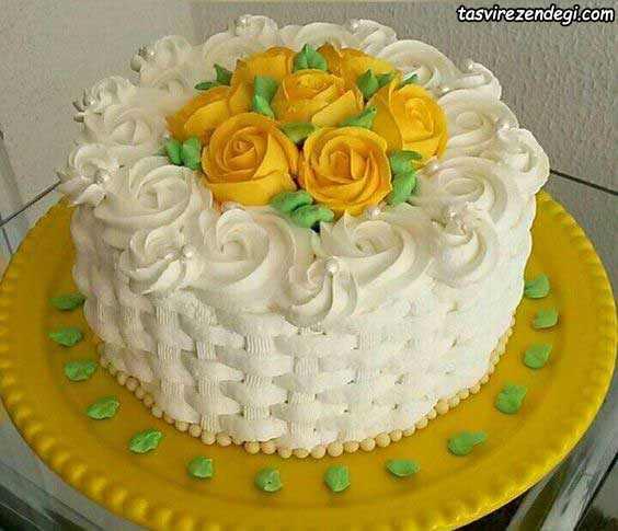 تریین کیک عروسی با ماسوره