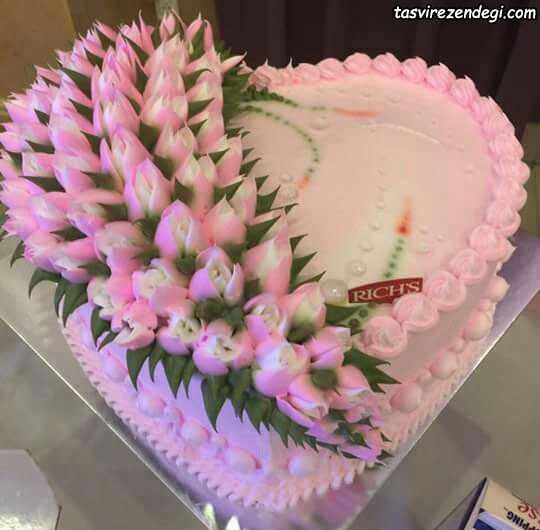 تزیین کیک تولد با ماسوره