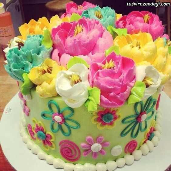 تزیین کیک با ماسوره