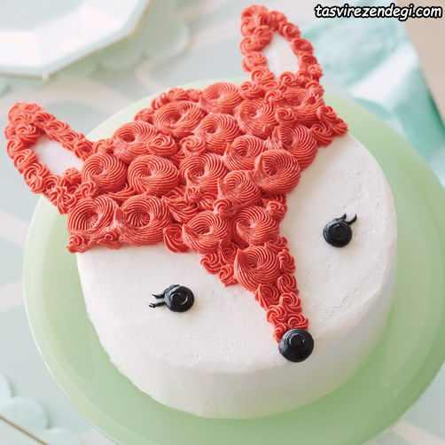 تزیین کیک تولد به شکل روباه