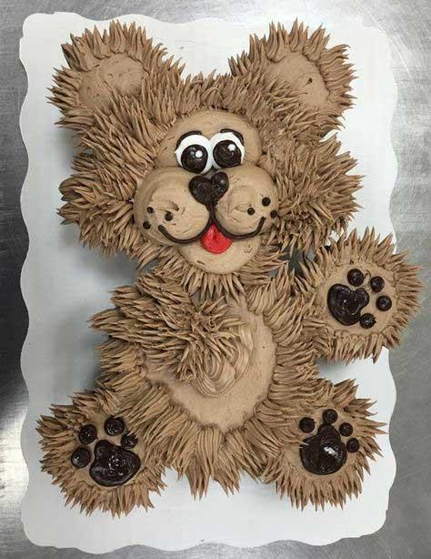 تزیین کیک تولد به شکل خرس