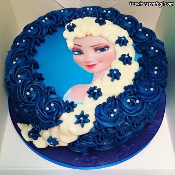 تزیین کیک تولد دخترانه با ماسوره