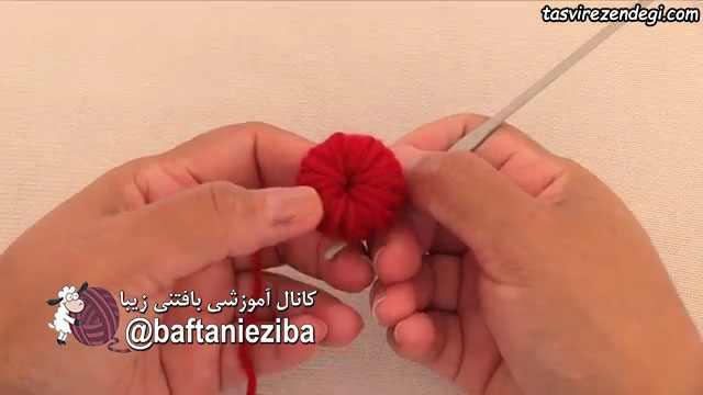 آموزش بافت گل قلاب بافی
