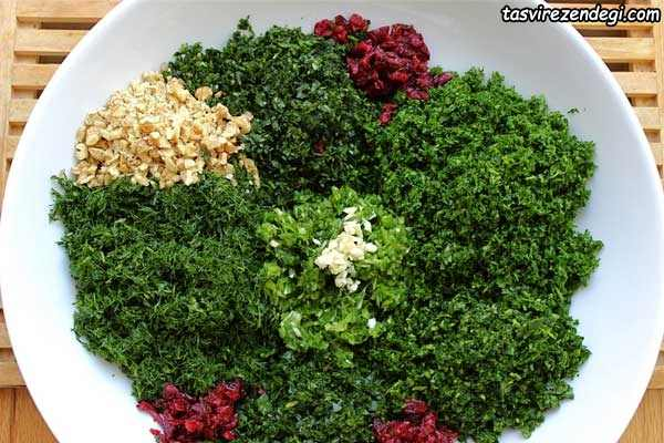 سبزی های کوکو سبزی
