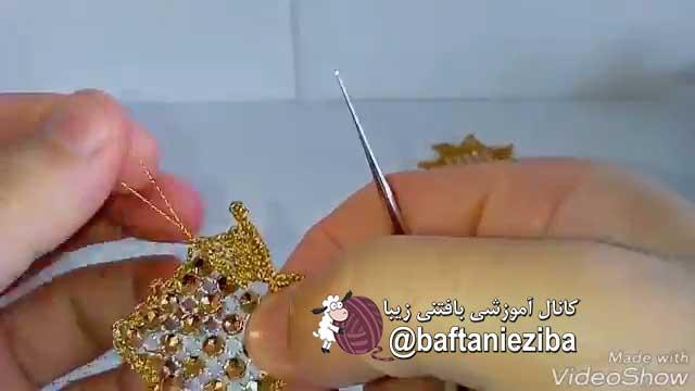 آموزش بافت موتیف گل رومیزی