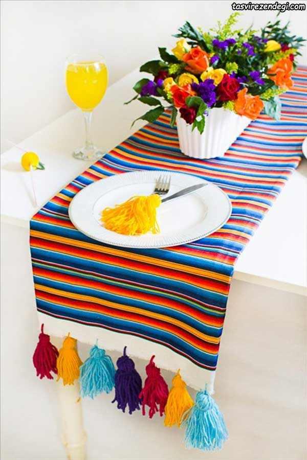 تزیین رومیزی با منگوله