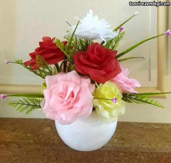آموزش ساخت گل رز لمسی