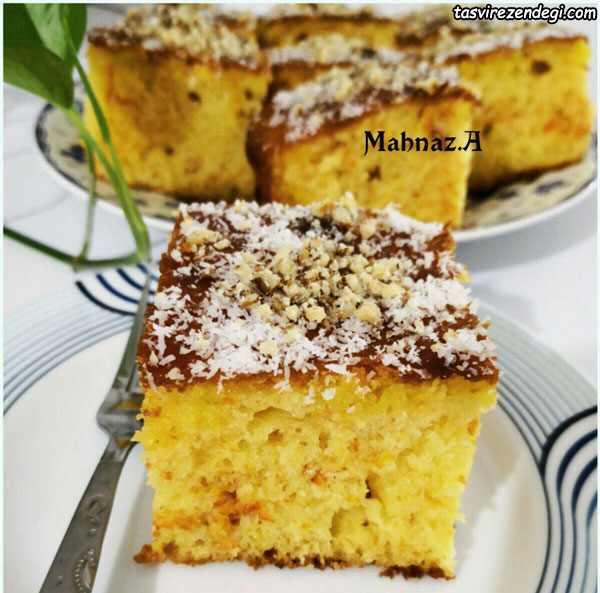 کیک هویج و زعفران
