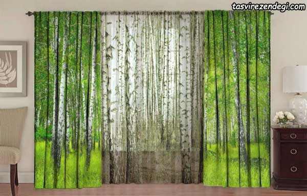پرده پذیرایی طرح جنگل