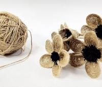 آموزش ساخت گل کنفی