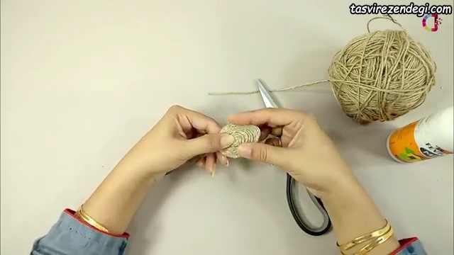 آموزش درست کردن گل کنفی
