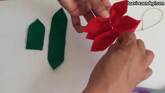آموزش ساخت گل نمدی