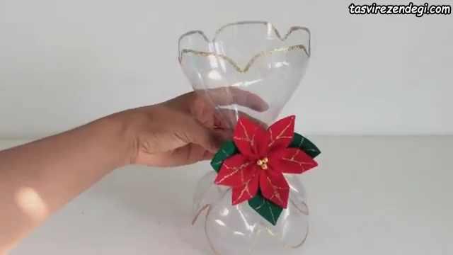 آموزش ساخت جام هفت سین با بطری , ساخت جاشمعی کریسمس