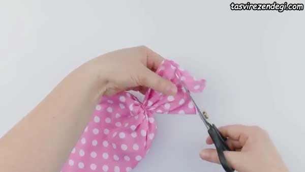 آموزش ساخت کیف لوازم آرایش شکلاتی