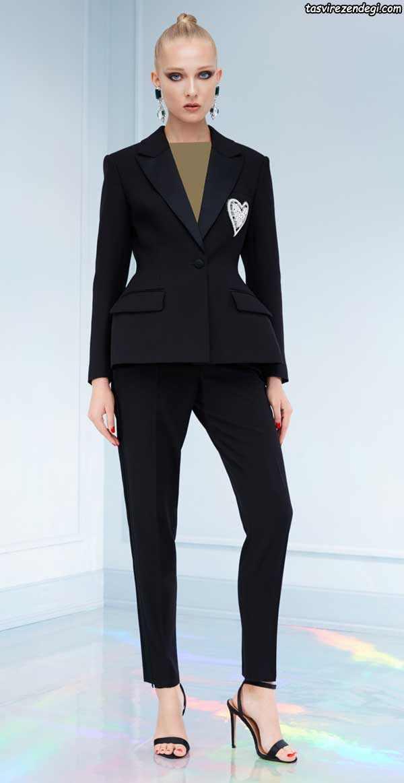 مدل کت وشلوار بلند زنانه شیک