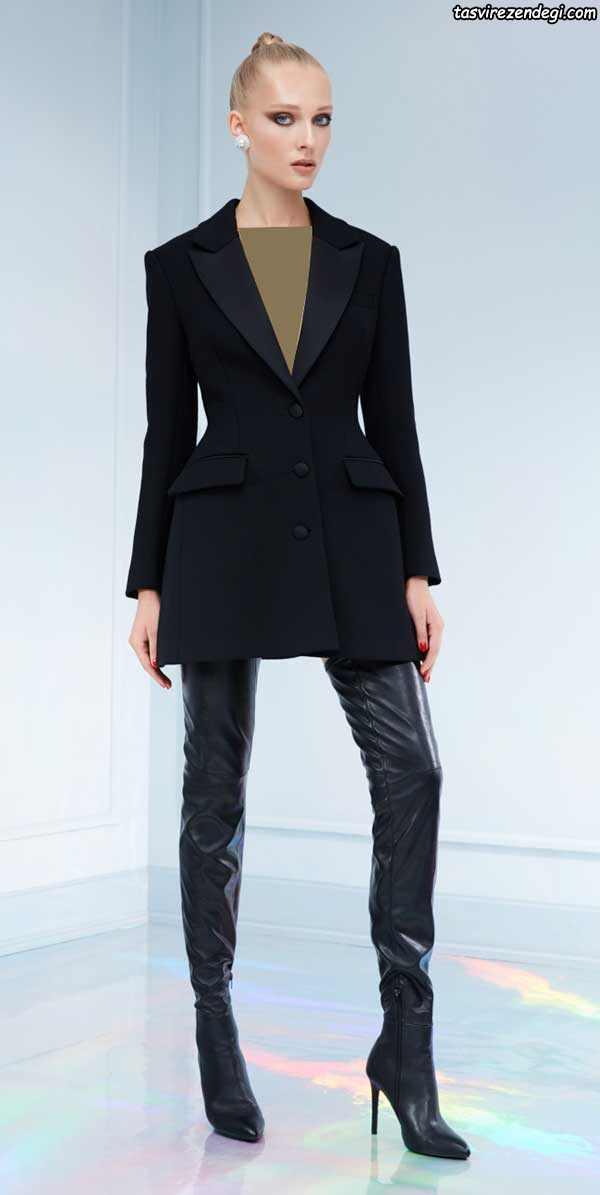 مدل کت شلوار زنانه بلند شیک