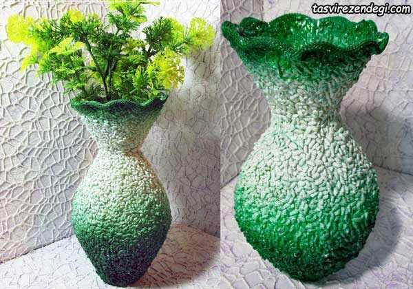 آموزش ساخت گلدان با بطری پلاستیکی
