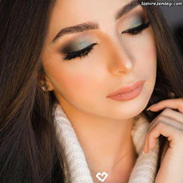 آرایش صورت عربی سایه رنگی