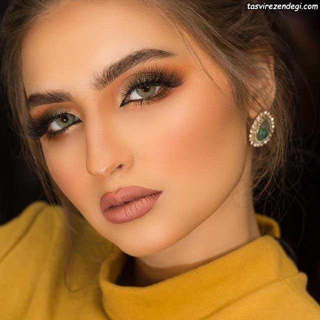 آرایش صورت عربی دخترانه