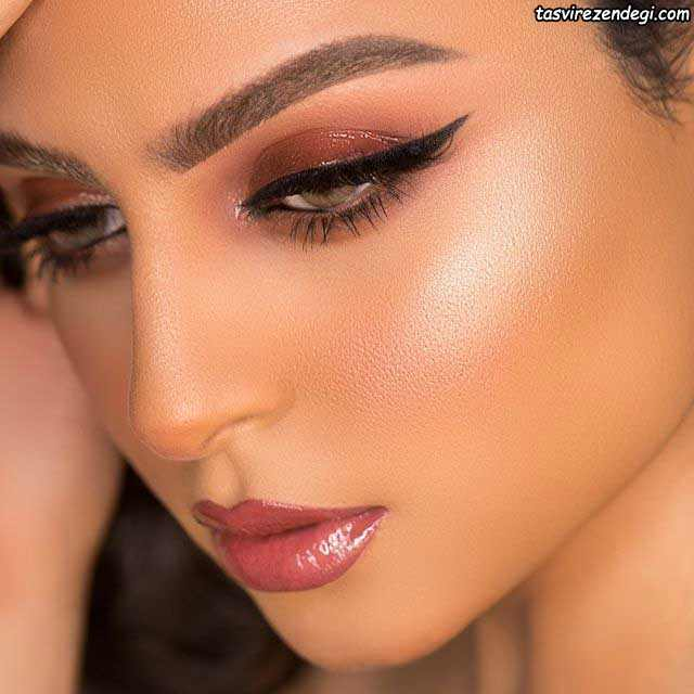 آرایش صورت عربی ملایم
