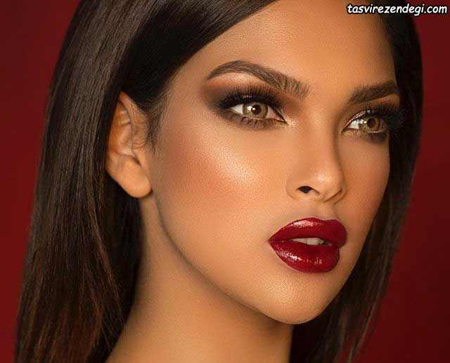 آرایش صورت عربی با سایه تیره