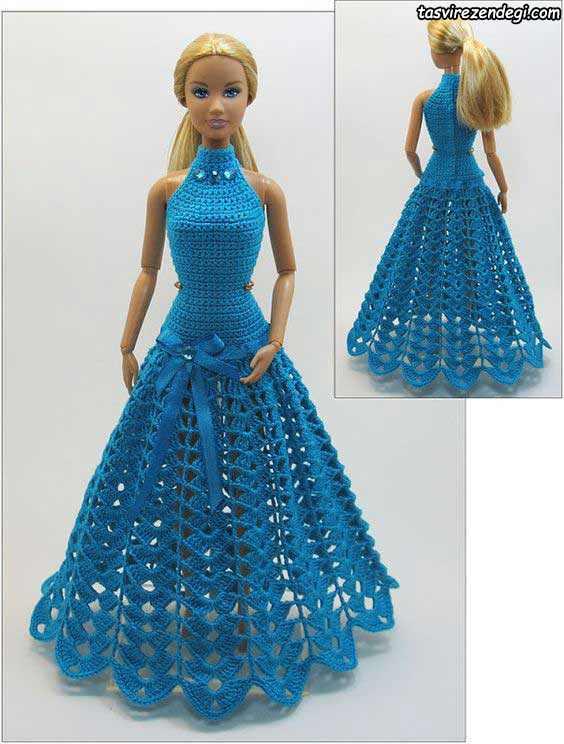 مدل لباس عروسک بافتنی