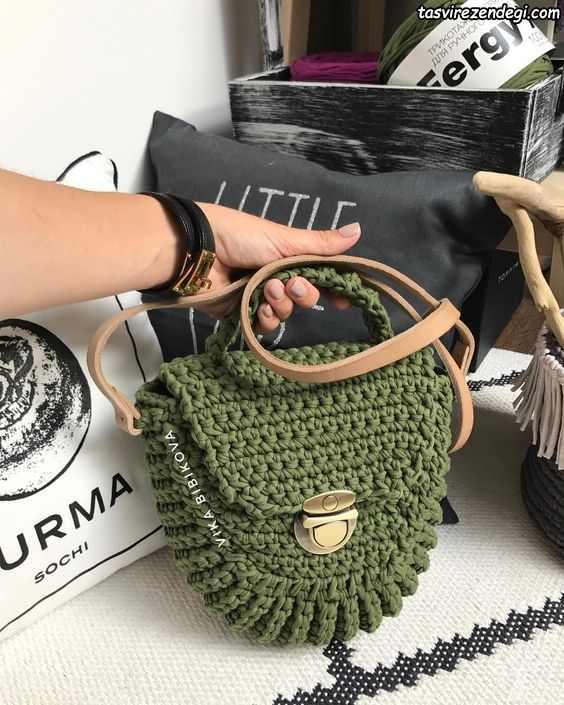 کیف دستی زنانه تریکو ماشی رنگ