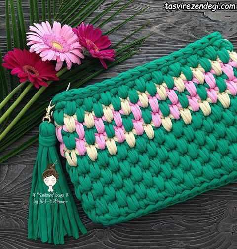 کیف تریکو سبز