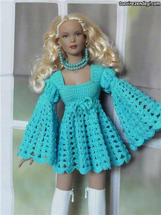 مدل لباس عروسک زمستانی