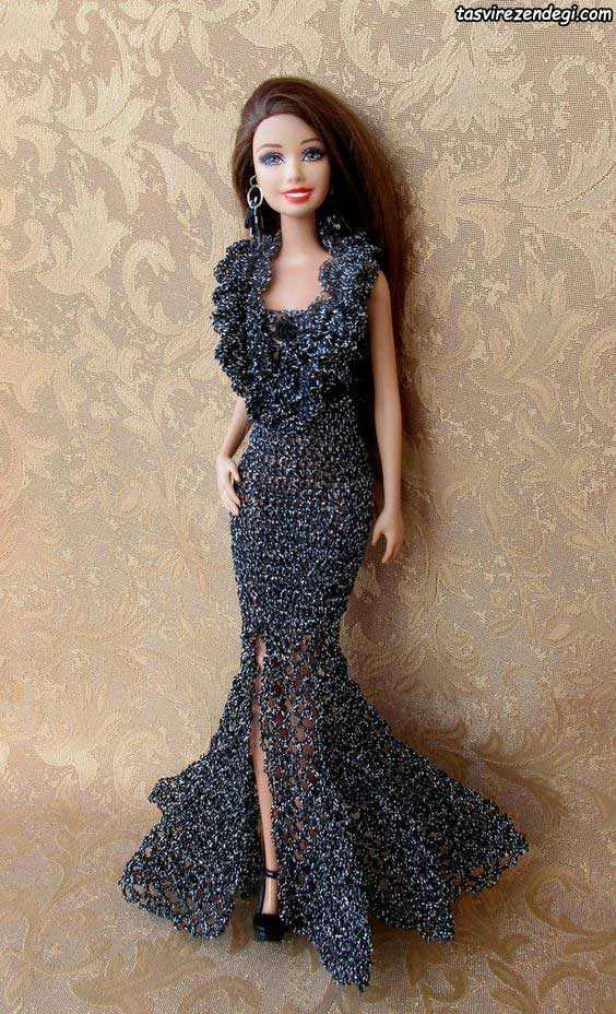 مدل لباس عروسک مجلسی زمستانی