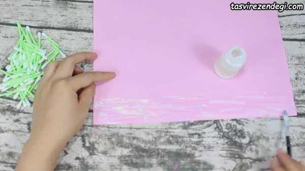آموزش ساخت گلدان با گوش پاک کن و مقوا