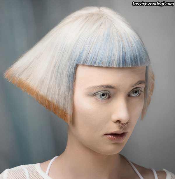 مدل موی کوتاه نقره ای رنگ