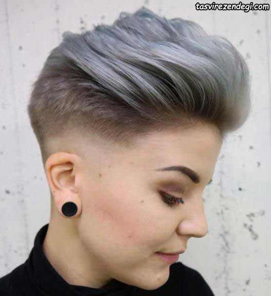 مدل موی کوتاه آلمانی نقره ای رنگ