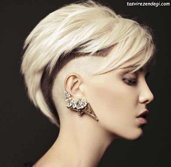 مدل موی کوتاه بلوند