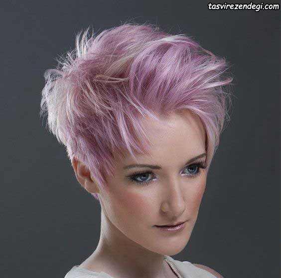 مدل موی کوتاه یاسی رنگ