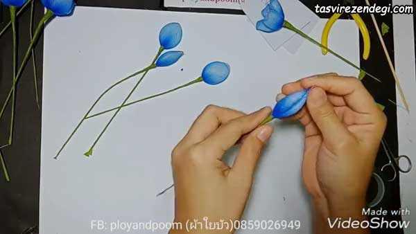 آموزش ساخت گل جورابی