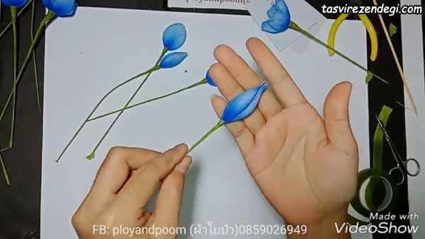 آموزش ساخت دسته گل جورابی