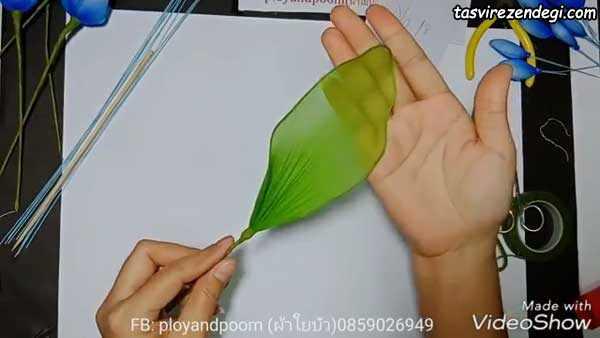 آموزش ساخت گل با جوراب