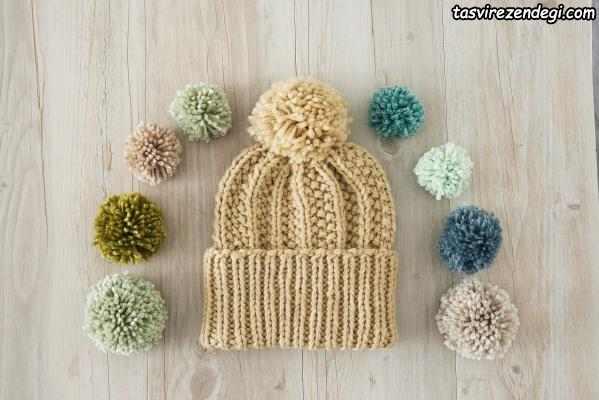 تزیین کلاه با منگوله