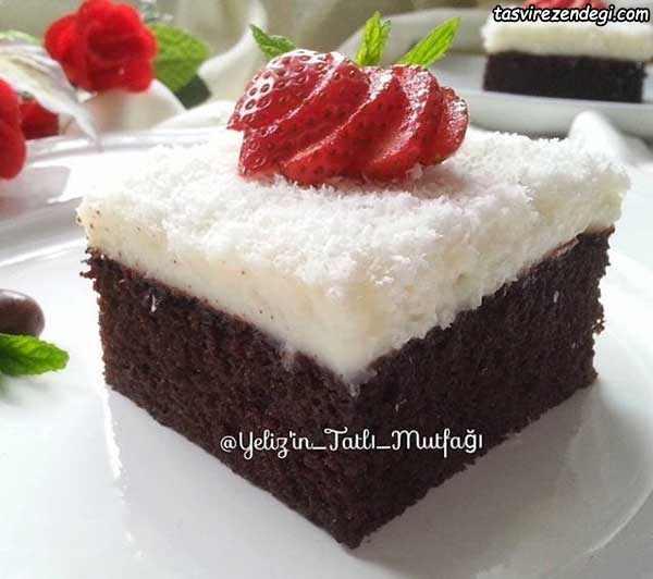 کیک عروس شکلاتی