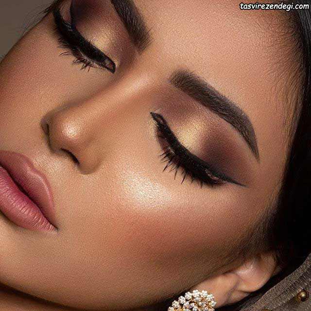 مدل آرایش صورت خلیجی